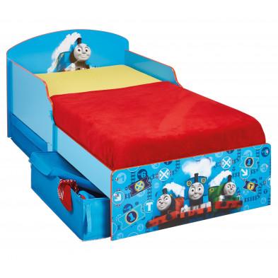 Lit petit enfant 70x140 cm design Thomas le train coloris bleu collection Charona