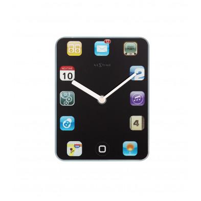 Horloge à poser noir en verre  collection Boizenburg