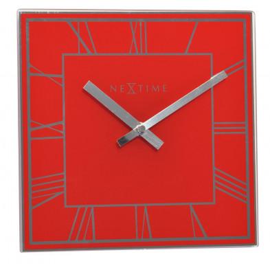Horloge à poser rouge classique en verre  collection Diemelstadt