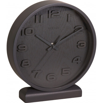 Horloge à poser gris en bois massif  22 x 20 cm   collection Asten