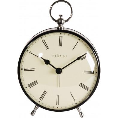 Horloge à poser noir en acier collection Puertoseguro