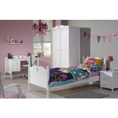 Chambre enfant complète blanc romantique en collection Piket