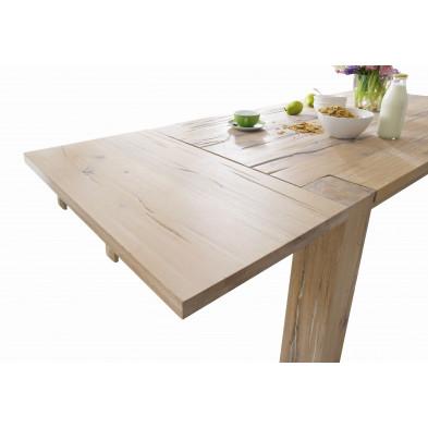 Plateau d'extension pour salle à manger en bois de chêne massif coloris chêne blanchi L. 100 x P. 50 x H. 2 cm collection Membury