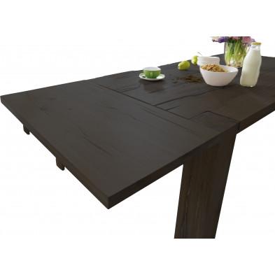 Plateau d'extension pour salle à manger en bois de chêne massif coloris marron antique L. 100 x P. 50 x H. 2 cm collection Membury
