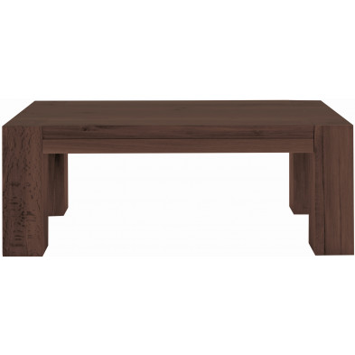 Table basse rustique en bois de chêne massif coloris marron antique L. 120 x P. 70 x H. 47 cm collection Membury