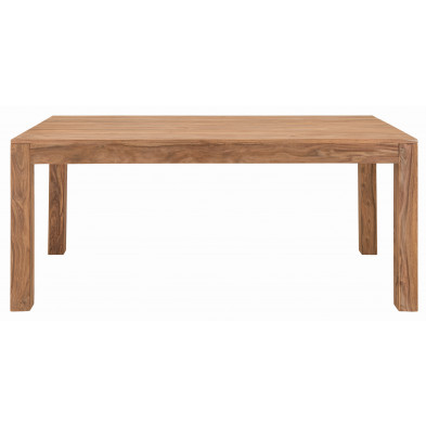 Table à manger rustique en bois de Sheesham massif coloris naturel L. 160 x P. 90 x H. 75 cm collection Burghout