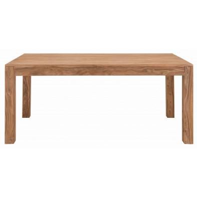 Table à manger rustique en bois de Sheesham massif coloris naturel L. 178 x P. 90 x H. 75 cm collection Burghout
