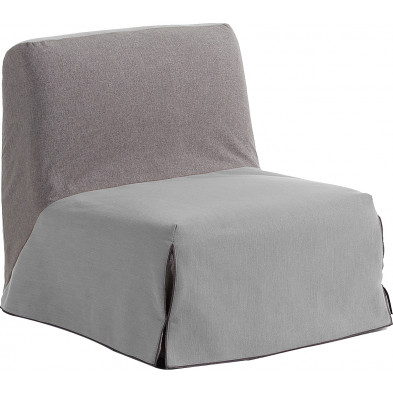 Chauffeuse rembourré avec tissu Bulova et Varese traitement Teflon anti-taches, déhoussable convertible en lit 1 personne L. 90 x P. 85 x H. 92 cm collection Langquaid