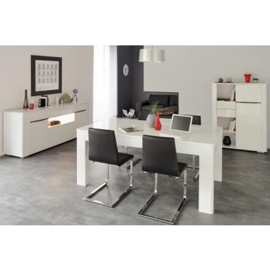 Salle à manger complète design blanc collection Applin