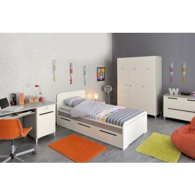 Chambre enfant complète contemporaine blanche  Collection Farnetta