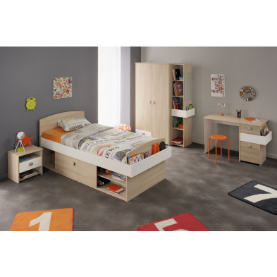 Chambre enfant complète contemporain beige Collection Stmalo