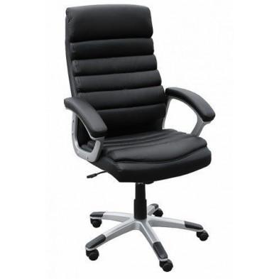 Chaise et fauteuil de bureau noir design en PVC L. 60 x P. 60 x H. 115 -125 cm collection Ripalimosani