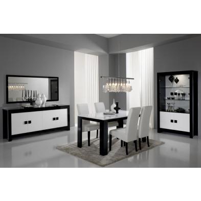 Salle à manger complète noir design collection Roxana