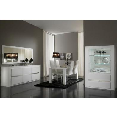 Salle à manger complète argenté design collection Portland