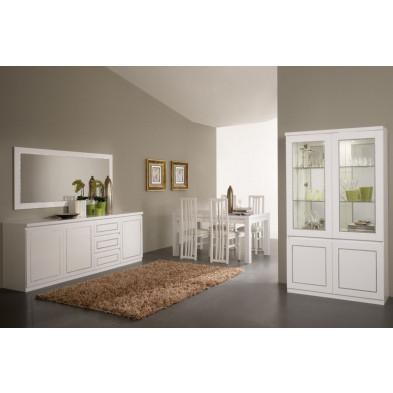 Salle à manger complète blanc design collection Vanzoeren