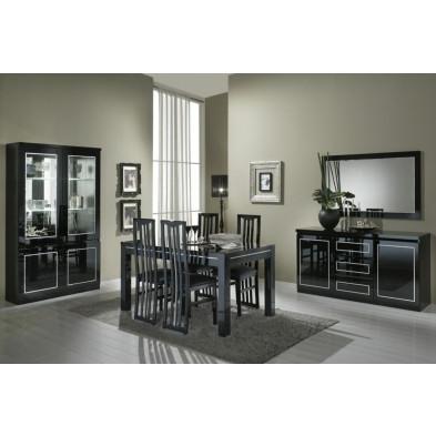 Salle à manger complète noir design collection Ottawa