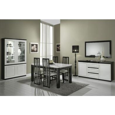 Salle à manger complète noir design collection Liedeke