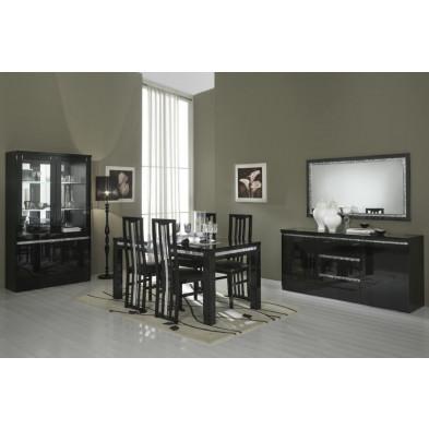 Salle à manger complète noir design collection Hilma