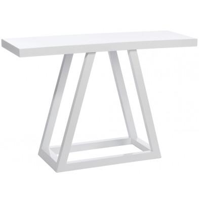 Consoles blanc design en bois mdf 120 x 40 x 80 cm collection Ausejo