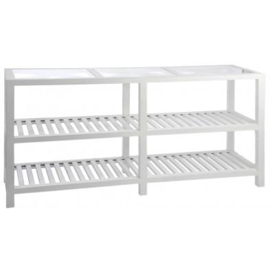 Consoles blanc design en bois massif 160 x 46 x 76 cm collection Table