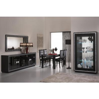 Salle à manger complète noir design collection Christabel