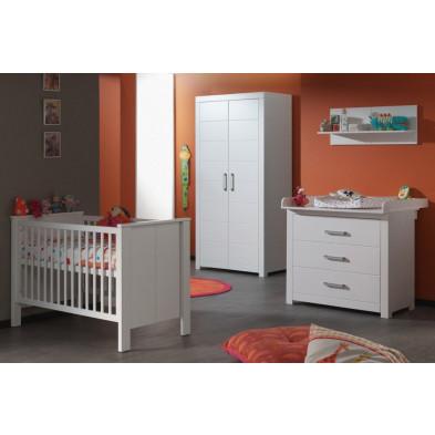 Chambre bébé complète blanc moderne collection Doppenberg
