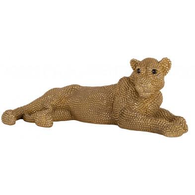 Décoration 68 cm design Panthère en Polyrésine Coloris or collection Lion Richmond Interiors Richmond Interiors
