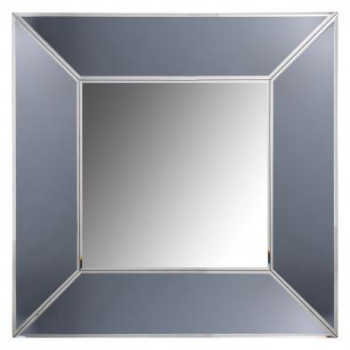 Miroir argenté design en bois mdf et miroir, L. 95 x P. 5 x H. 95 cm  collection Blaed Richmond Interiors Richmond Interiors