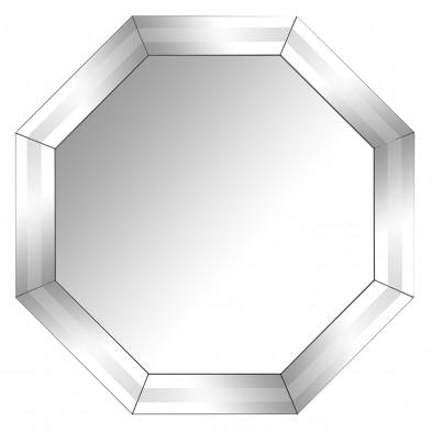 Miroir argenté design en bois mdf et miroir, L. 100 x P. 7 x H. 100 cm  collection Blayne Richmond Interiors Richmond Interiors
