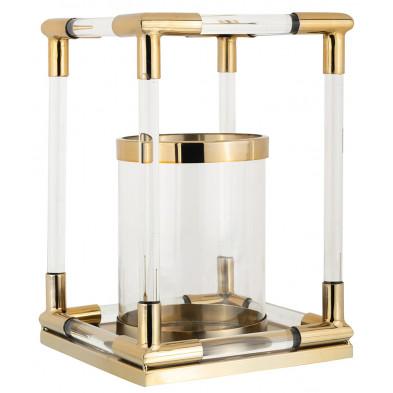 Bougeoir et chandelier coloris or design en acier et verre collection Barton L. 24 x P. 24 x H. 35 cm Richmond Interiors Richmond Interiors