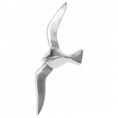 Déco figurine et statue argenté design en aluminium L. 13 x P. 3 x H. 30 cm collection Caiazzo