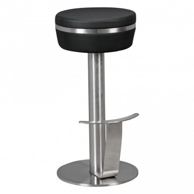 Tabouret de bar noir design en acier 37 cm de largeur L. 37 x P. 37 x H. 76 cm collection Scan