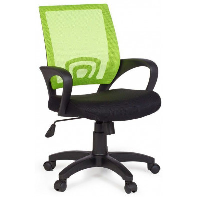 Chaise et fauteuil de bureau vert design en tissu 50 cm de largeur L. 50 x H. 88 - 97 x P.50 cm collection Nurnberg