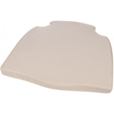 Coussin pour chaise en tissu coloris beige L. 47 x P. 45 x H. 4 cm collection Gordon
