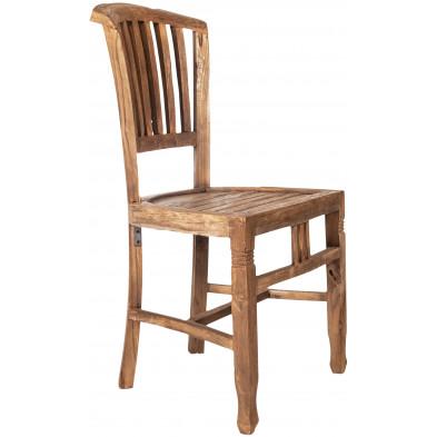 Chaise en teck recyclé coloris naturel L. 50 x P. 55 x H. 95 cm collection Jemima