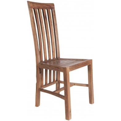 Chaise en teck recyclé coloris naturel  L. 46 x P. 45 x H. 104 cm collection Jemima