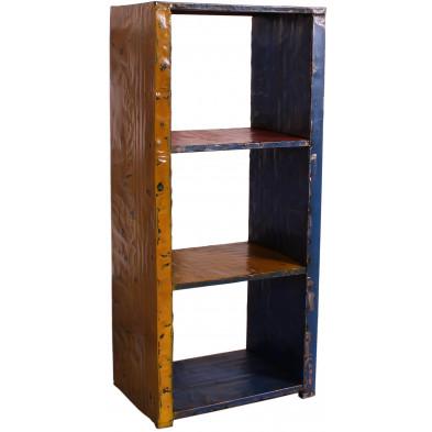 Bibliothèque vintage multicolore en acier recyclé L. 60 x P. 40 x H. 135 cm collection Samone