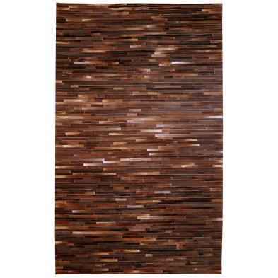 Tapis rectangulaire moderne en peau de vache 170x240 cm coloris marron collection Immenreuth