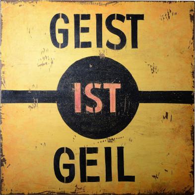 Tableau mural vintage en MDF coloris jaune L. 30 x P. 4 x H. 30 cm collection Menheere