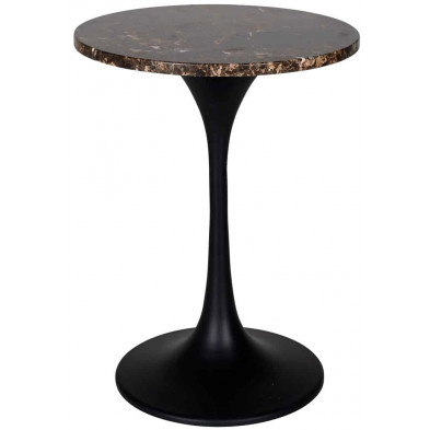 Table d'appoint marron industriel en acier L. 45 x P. 45 x H. 60 cm collection Orion Richmond Interiors