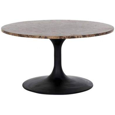 Table basse design marron industriel en acier L. 80 x P. 80 x H. 45 cm collection Orion Richmond Interiors