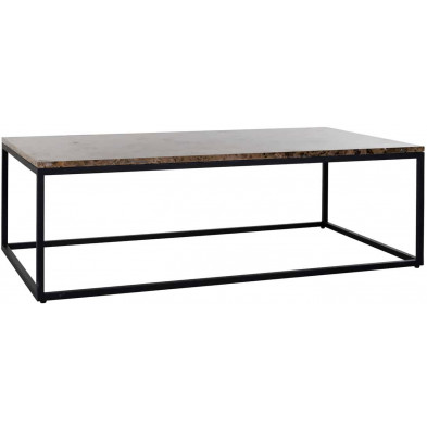 Table basse design marron industriel en acierL. 130 x P. 70 x H. 40 cm  collection Orion Richmond Interiors