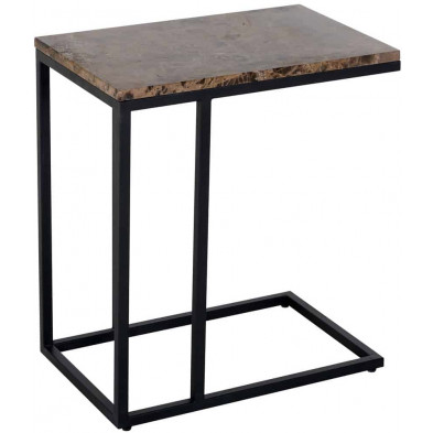 Table d'appoint marron industriel en acier L. 55 x P. 35 x H. 60 cm collection Orion Richmond Interiors