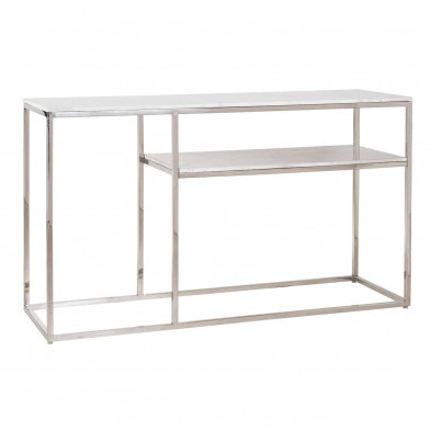 Console argenté design en acier inoxydable L. 140 x P. 46 x H. 80 cm  collection Levanto Richmond Interiors