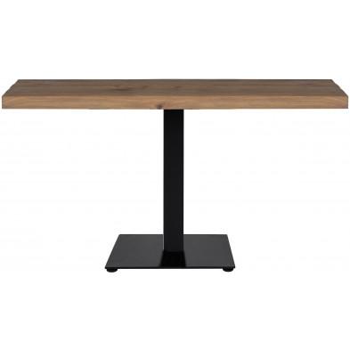 Table de salle à manger  marron industriel en acier et bois massif chêne  L. 140 x P. 80 x H. 76 cm  collection Gastronomy Richmond Interiors