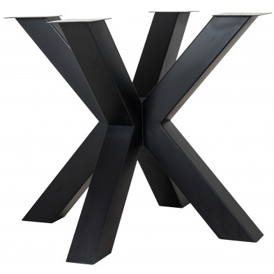 Pieds de table noir industriel en acier L. 95 x P. 95 x H. 75 cm  collection Bodhi-black Richmond Interiors