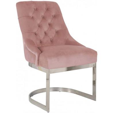 Chaise  de salle à manger  Rose Design en Acier inoxydable L. 57.5 x P. 64 x H. 92.5 cm  collection Chaya Richmond Interiors