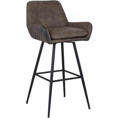 Tabouret de bar marron contemporain en polyester L. 52.5 x P. 51 x H. 101.5 cm  collection Linsey Richmond Interiors