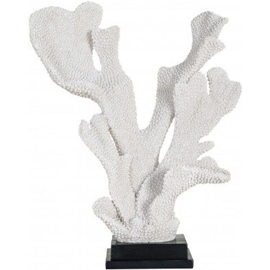 Déco figurine et statue blanc contemporain en polyrésine  L. 33 x P. 16.5 x H. 41 cm collection Noah Richmond Interiors