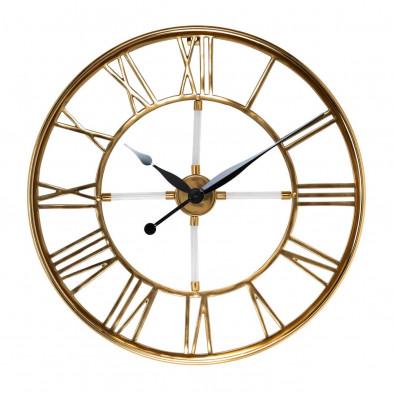 Horloge murale or contemporain en acier inoxydable  L. 60 x P. 6 x H. 60 cm collection Bryson Richmond Interiors